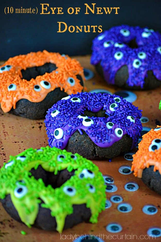 10 Minute Eye of Newt Halloween Donuts