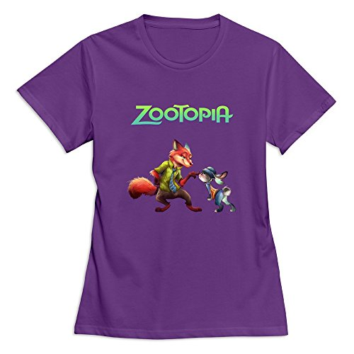 Disney Zootopia Logo Woman T-shirt Slim Fit (Additional Colors Available)