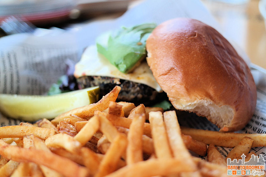 Burger and Fries - Bubba Gump Shrimp Co, Cannery Row, Monterey, CA ad