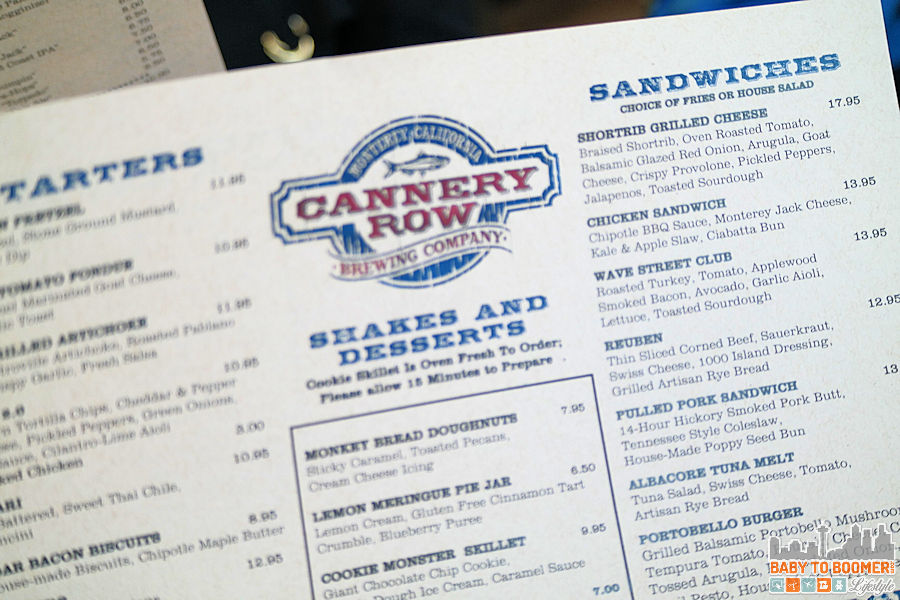 Menu - - Cannery Row Brewing Company - #CanneryRow ad