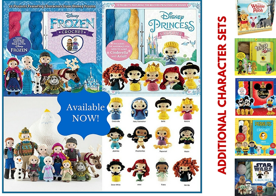 Crochet Kits FROZEN And Princesses Amigurumi Patterns