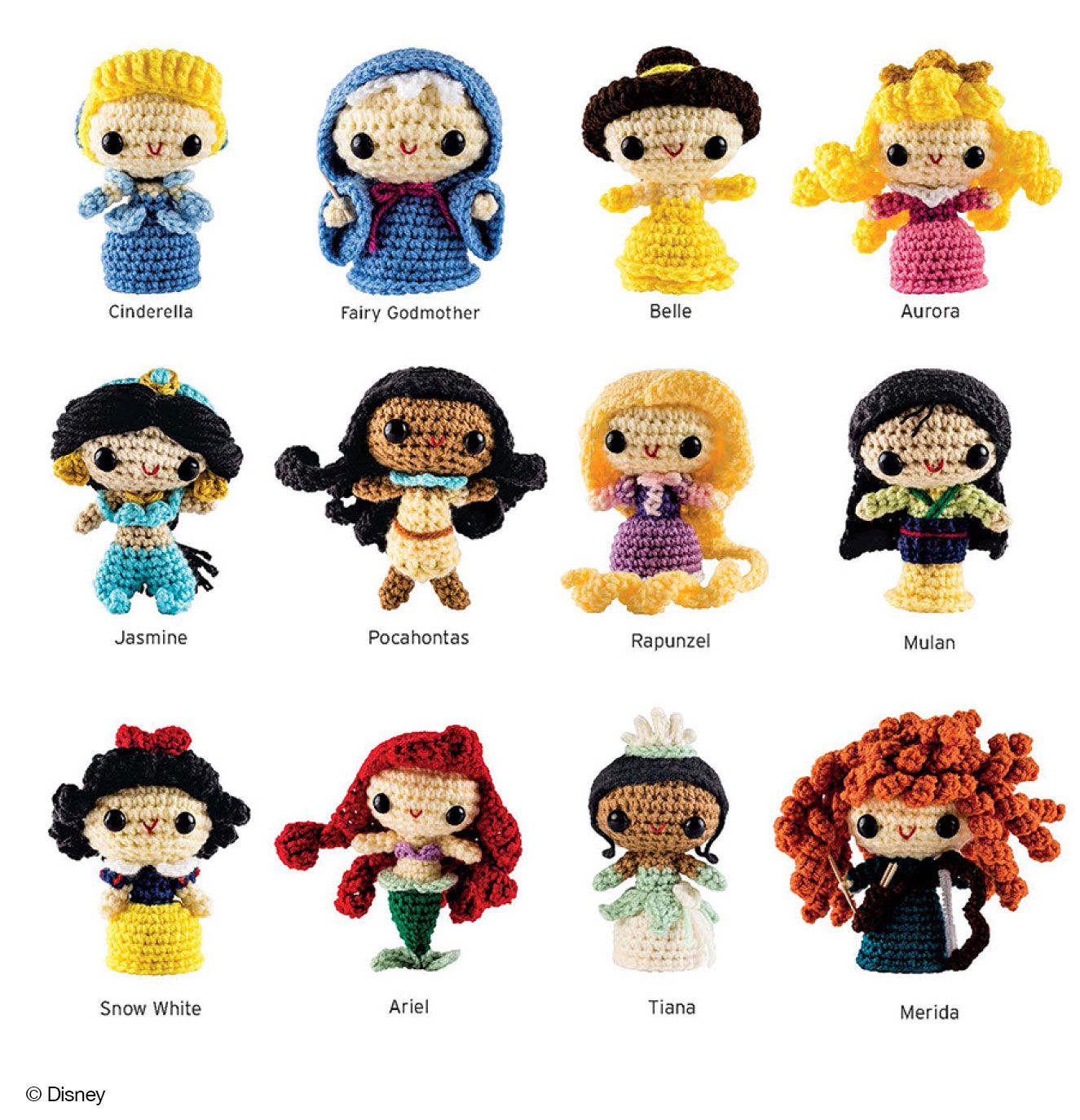 Free Crochet Disney Amigurumi Patterns : Crochet Kits: FROZEN and Princesses Amigurumi Patterns