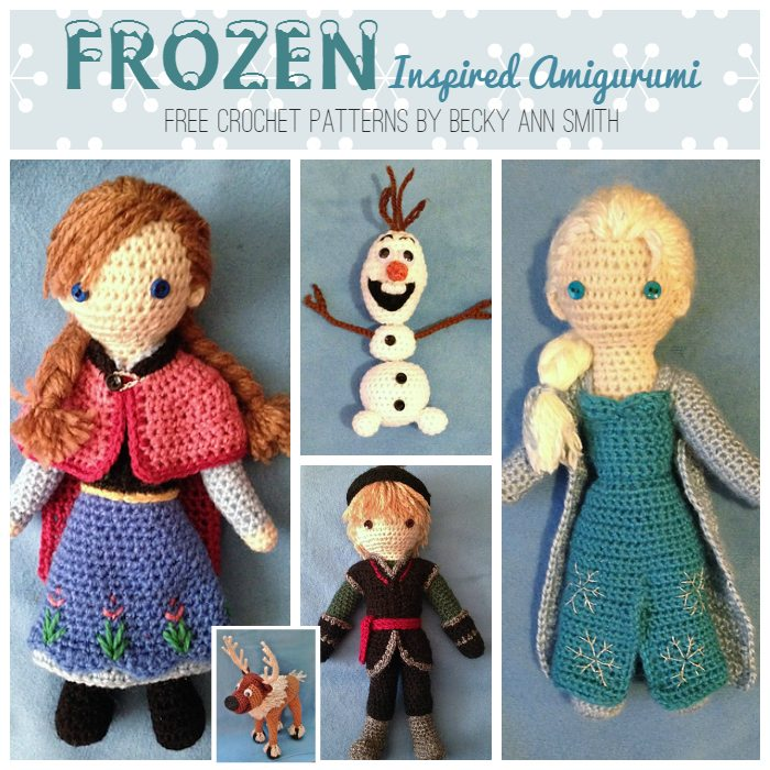 Free Crochet Disney Amigurumi Patterns : Frozen Amigurumi Patterns - Baby to Boomer Lifestyle