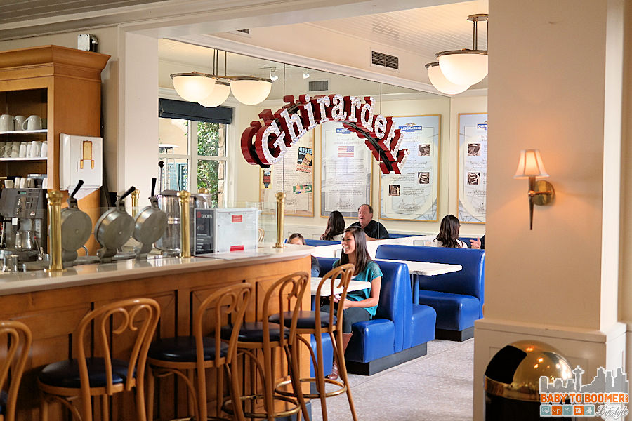 Ghirardelli Chocolate Inside Seating - Cannery Row, Monterey, CA #CanneryRow ad