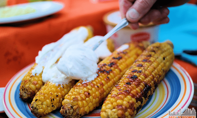 Grilled Corn with Sour Cream and Cotija Cheese Recipe
