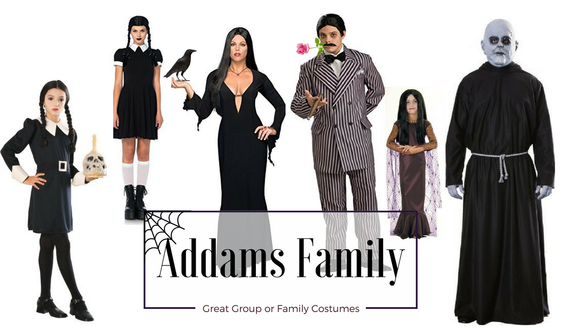 Fun Group Halloween Costumes The Addams Family
