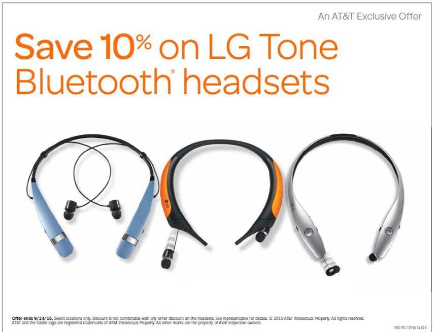Save on LG headphones for school