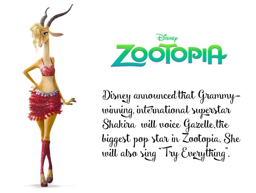 Shakira joins Disney Zootopia cast