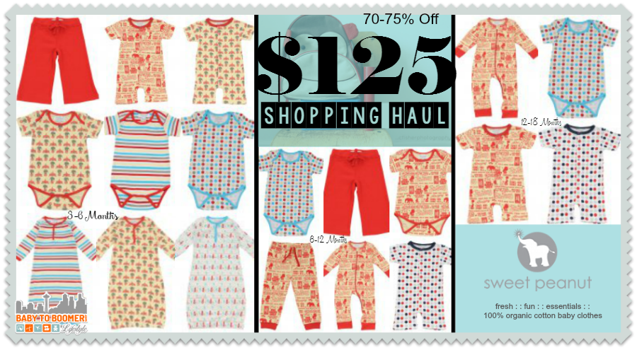Sweet Peanut Organic Baby Clothes Haul - 70 to 75% Off