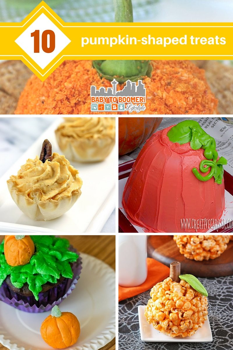10 pumpkin-shaped treats
