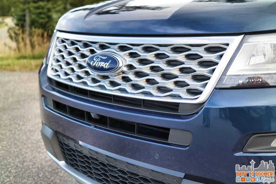 2016 Ford Explorer Platinum Tour - blue grill ad