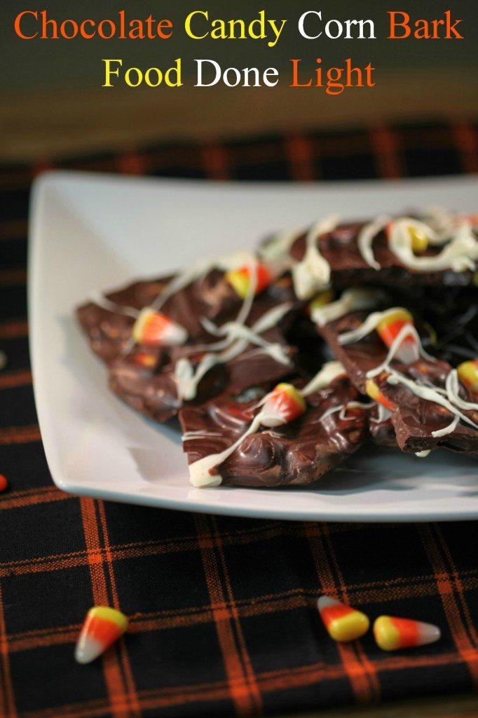 Dark Chocolate Candy Corn Bark