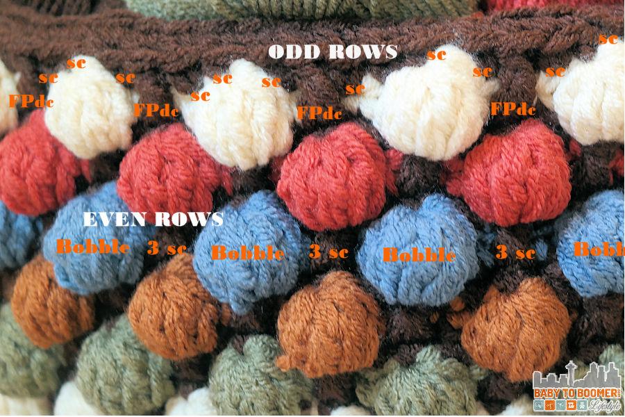 Free Bobble Storage Basket Crochet Pattern Bobble Basket Stitch Guide