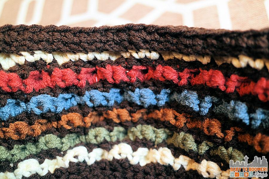Bobble Crochet Basket Inside - Free Bobble Storage Basket Crochet Pattern