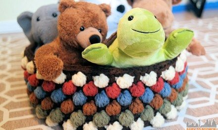 Bobble Storage Basket Free Crochet Pattern
