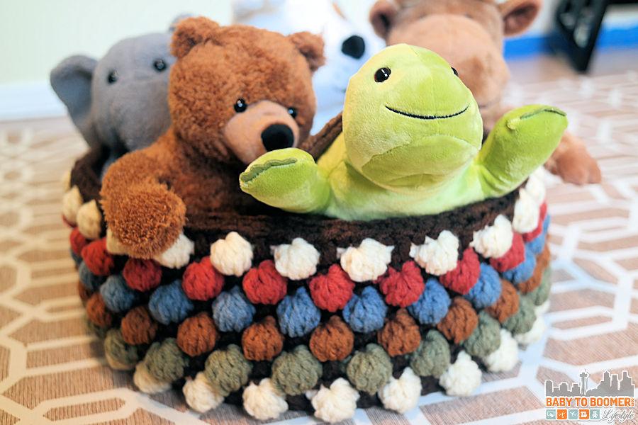 Bobble Storage Basket Free Crochet Pattern
