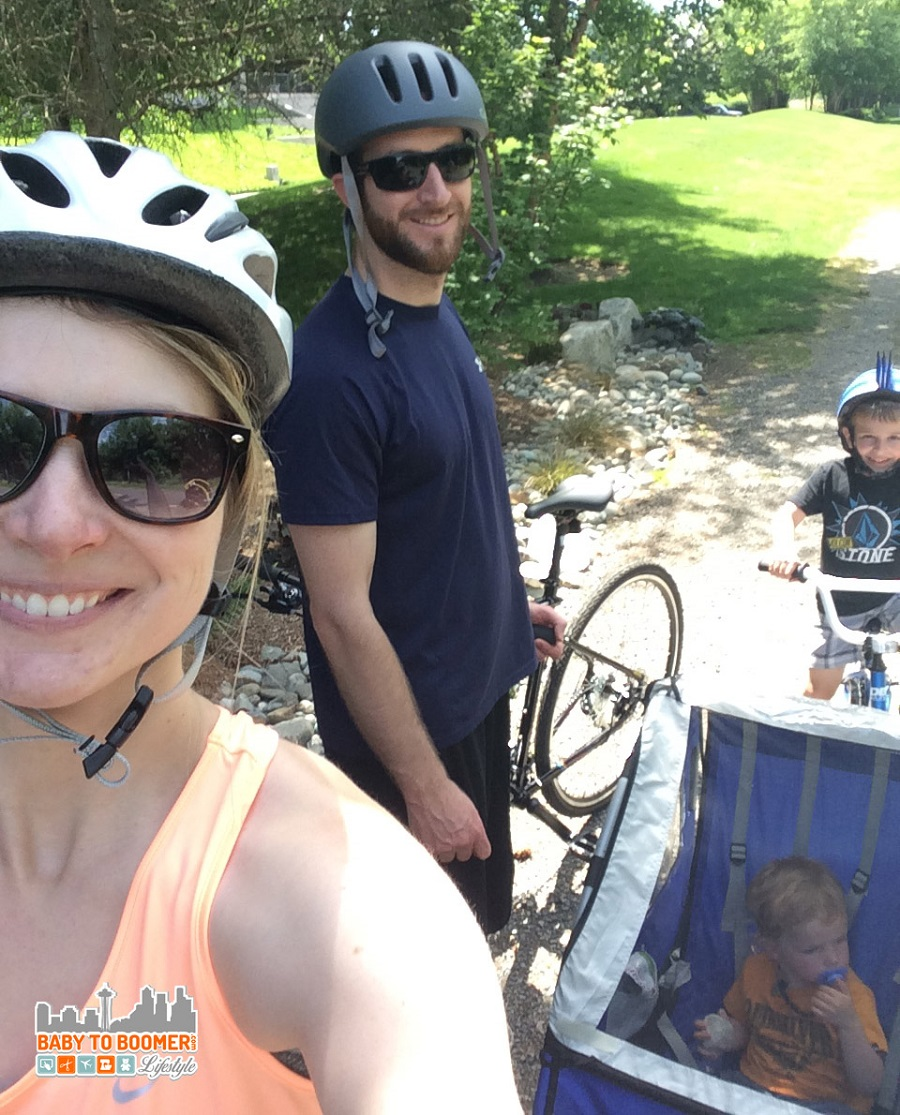 Take younger kids on a family bike ride by using a bike trailer - Things to Do With Kids in Seattle: Bikes At The Beach