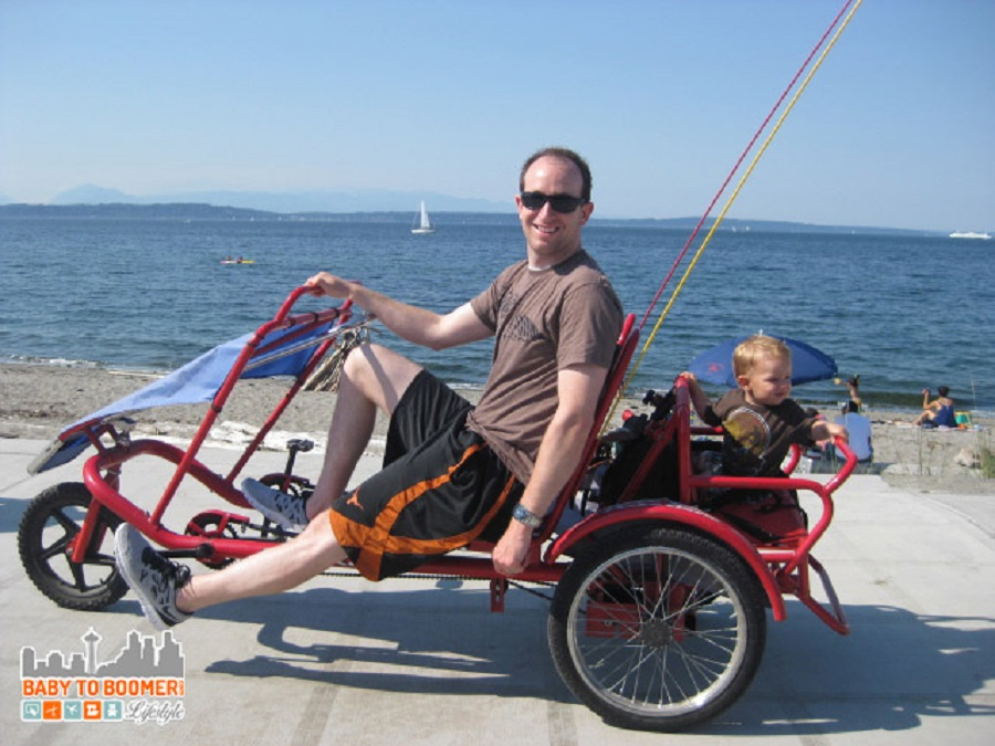 Rent bikes at Alki Beach for the whole family