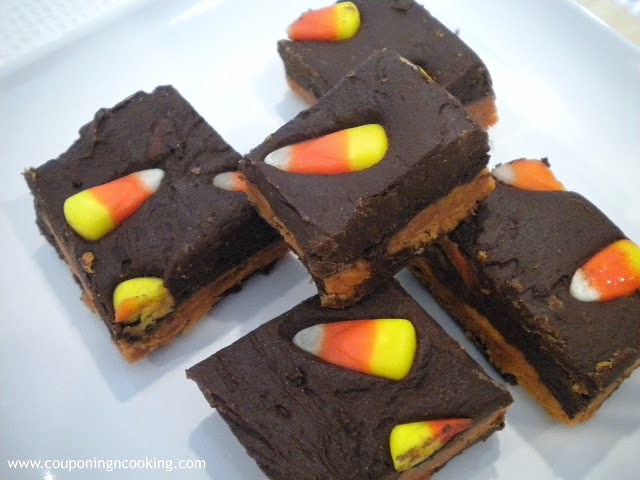 Butterfinger Fudge with candy corn