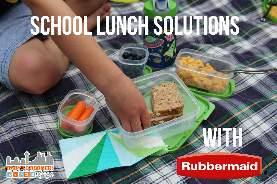 Durable stackable lunch containers from Rubbermaid #BloxOff