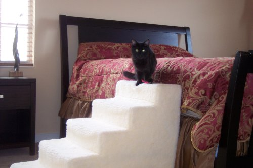 5 Step High-Density Foam Small Dog and Cat Stairs with Removable Cover