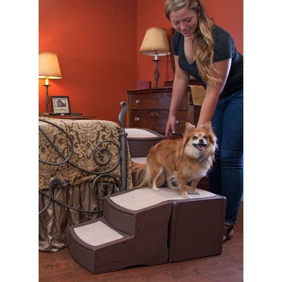 Pet Gear Easy Step Wrap Around 4-Step Bed Stair for Small to Medium Pets
