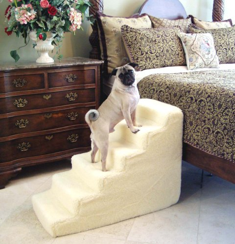 6 Step High-Density Foam Small Dog Pet Stairs