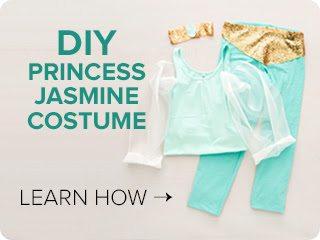 Aladdin jasmine makeup tutorial and diy costume diy quick and easy no sew princess jasmin costume solutioingenieria Images
