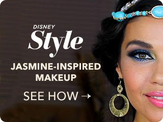Disney Style - Princess Jasmine Makeup Tutorial DIY Video Aladdin: Jasmine Makeup Tutorial and DIY Costume plus information on the new Diamond Edition Blu-ray combo and digital movie release October 2015