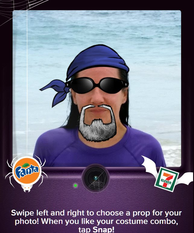 Fanta Freaky Photo Booth Costume - ad