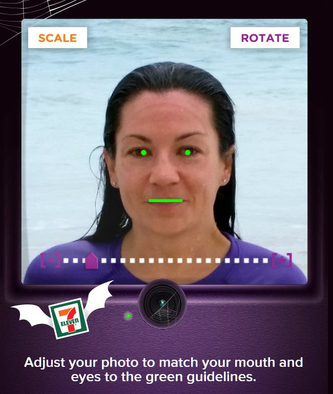 Fanta Freaky Photo Booth - Photo Scale and Rotate ad