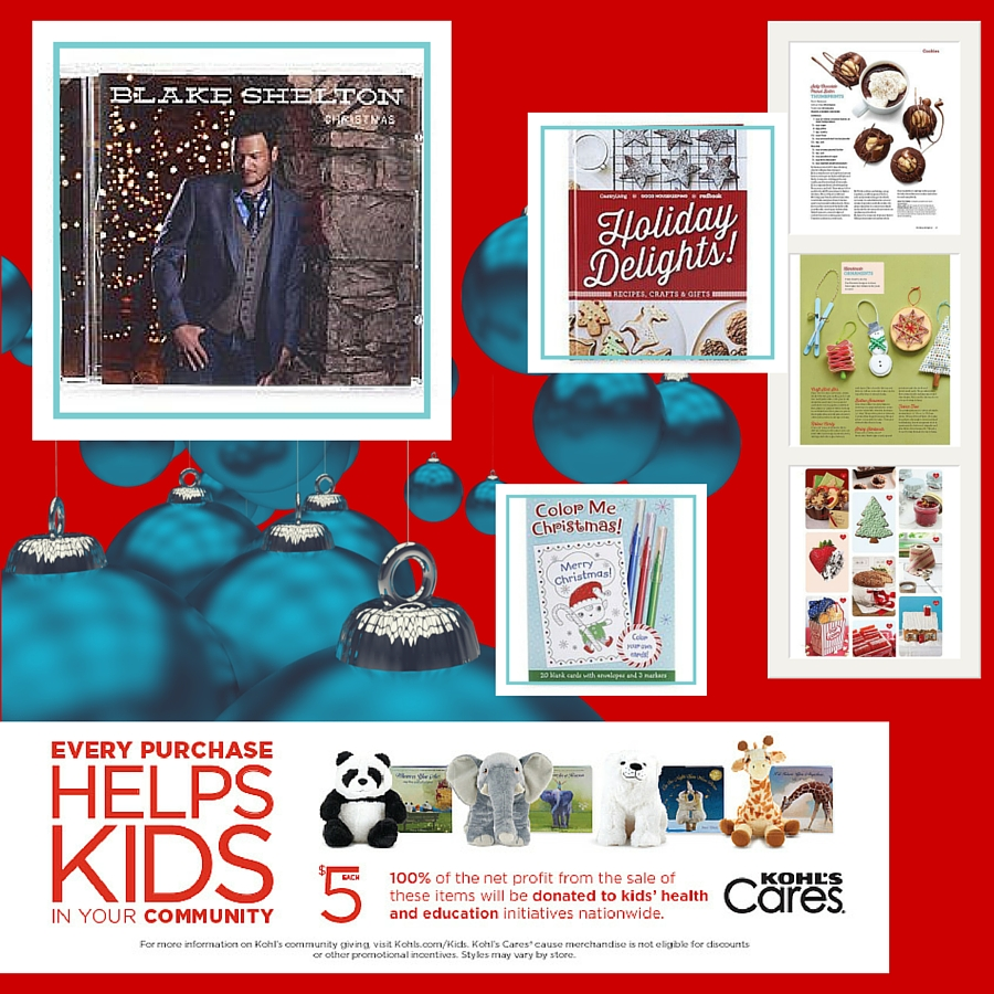 Kohl's Cares Holiday Campaign - Nancy Tillman Books and Blake Shelton Christmas CD ad