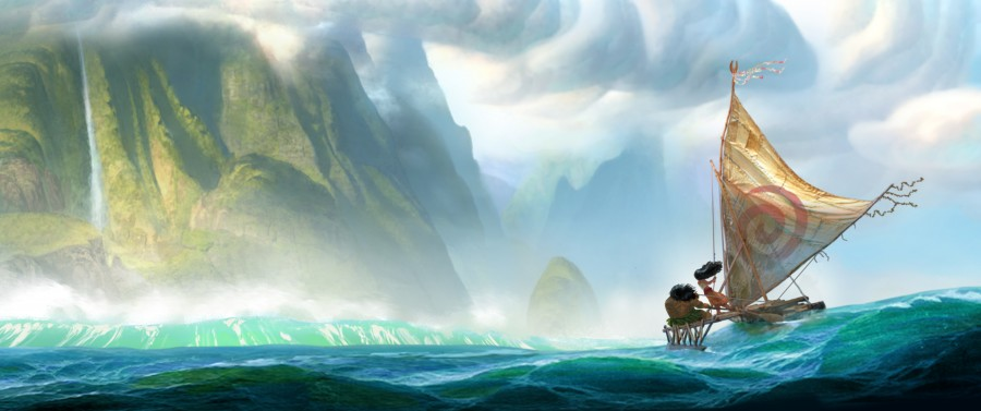 """From Walt Disney Animation Studios comes """"Moana,"""" a sweeping, CG-animated comedy-adventure about a spirited teenager on an impossible mission to fulfill her ancestors' quest. A born navigator, Moana sets sail from the ancient South Pacific islands of Oceania in search of a fabled island. During her incredible journey, she teams up with her hero, the legendary demi-god Maui, to traverse the open ocean on an action-packed voyage, encountering enormous sea creatures, breathtaking underworlds and ancient folklore. Directed by the renowned filmmaking team of Ron Clements and John Musker (""""The Little Mermaid,"""" """"The Princess and the Frog,"""" """"Aladdin""""), """"Moana"""" arrives in theaters in late 2016. 2014 Disney. All Rights Reserved."""