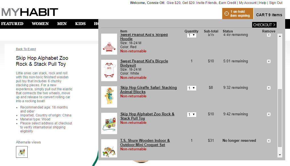 MyHabit Ordering - Item Reserved MyHabit vs Zulily - Which Offers the Best Deals?
