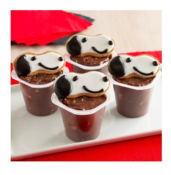 Snoopy Cookie Pudding cups