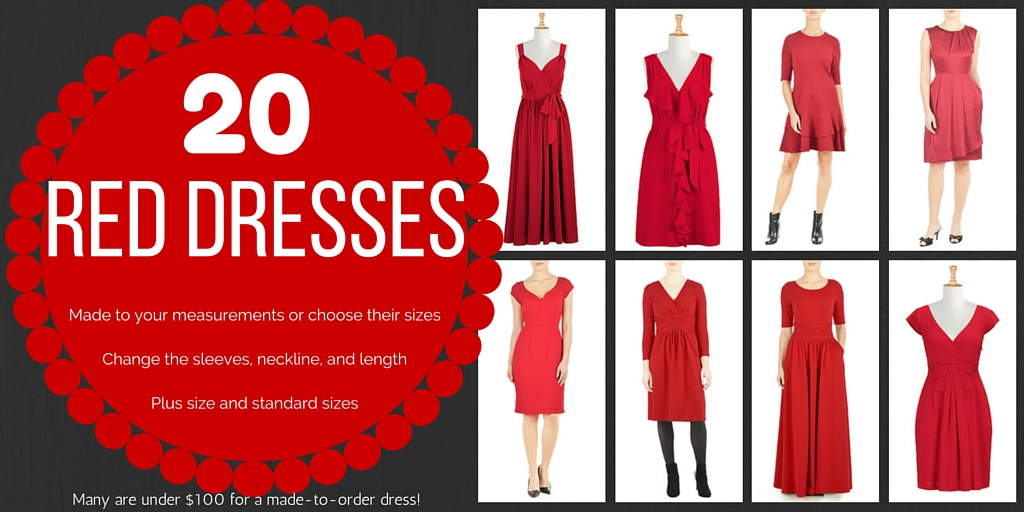 20 Red Dresses You Can Customize – Standard and Plus Sizes