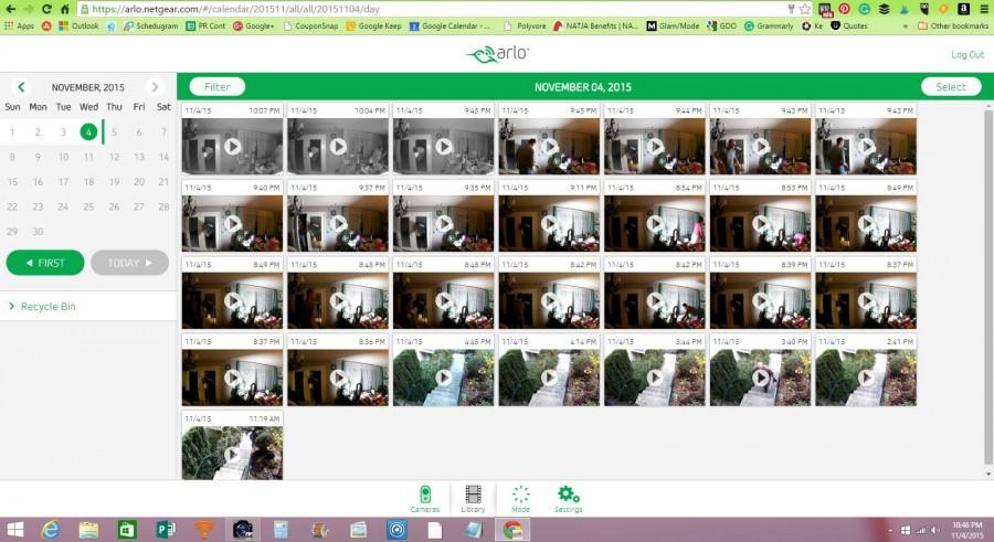 Arlo Camera Video Library