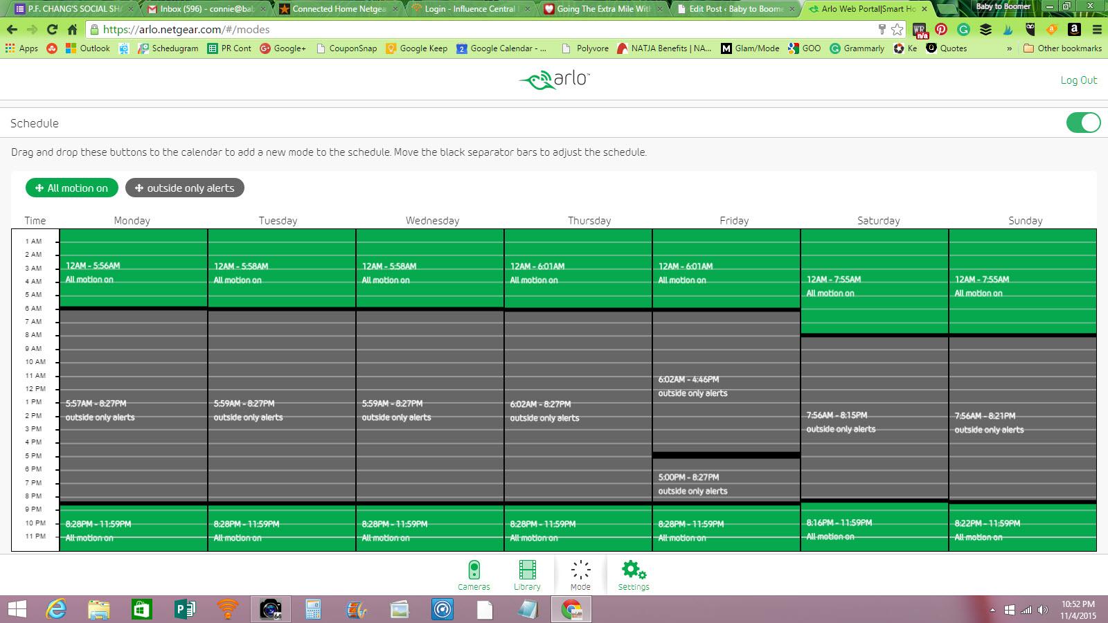 Arlo Scheduling
