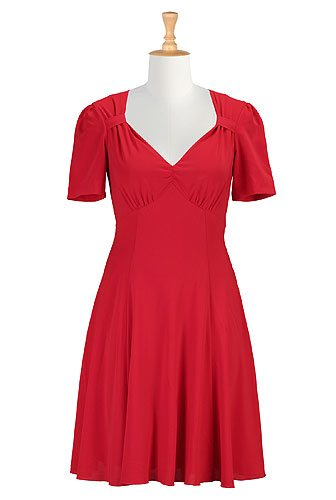 40's Style Red Crepe: Affordable Custom Made Dresses - Create a Made to Order Dress, Most Under $100