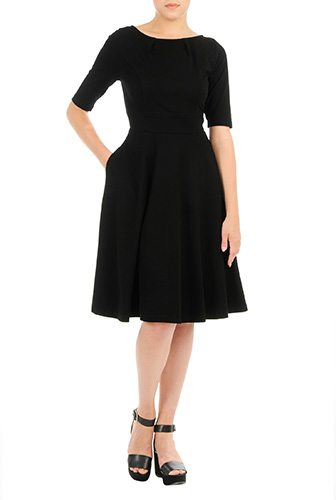 A Little Black Dress Customized for You - Change the sleeve, neckline or length or add pockets for just a few dollars