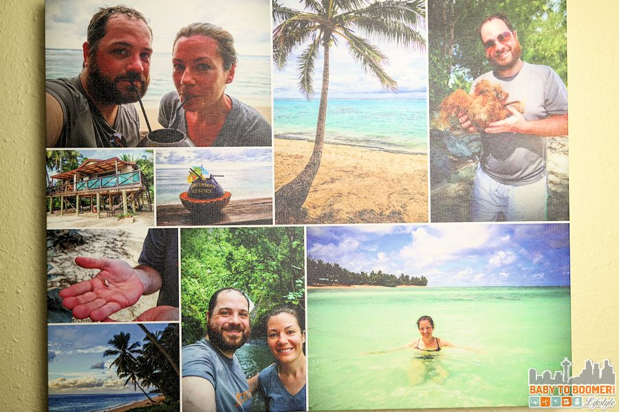 Creating Personalized Photo Gifts at Collage.com - Collage.com Canvas Print ad