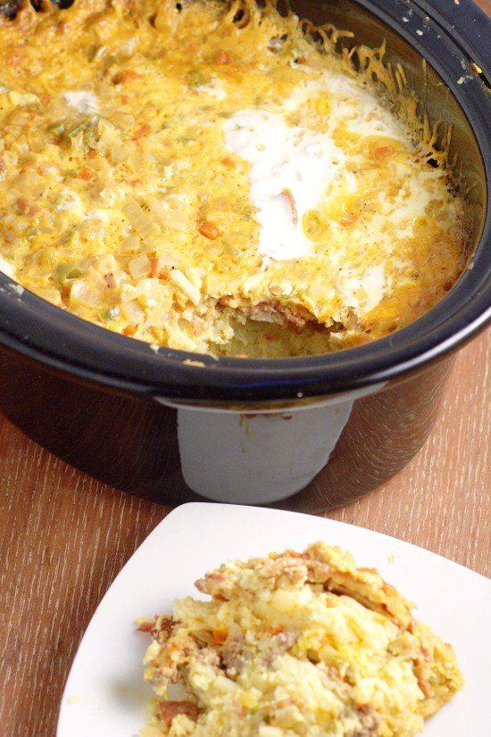 Crockpot Overnight Breakfast Casserole