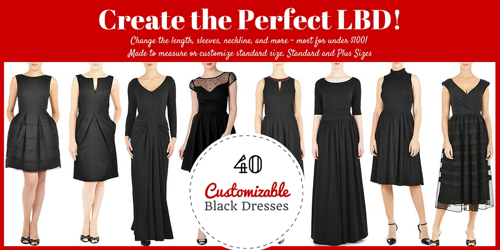 40 Little Black Dresses You Can Customize Length Sleeves Neckline Baby To Boomer Lifestyle