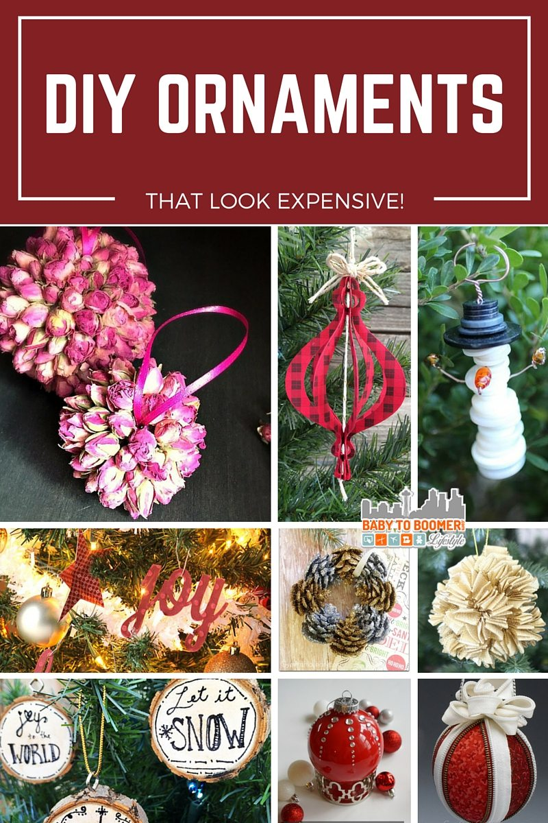DIY Ornaments that look expensive