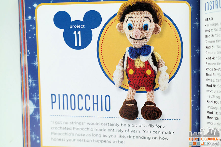 Project 11: Pinocchio Pattern - Classic Disney Crochet Patterns and Kit - 12 Characters! ad