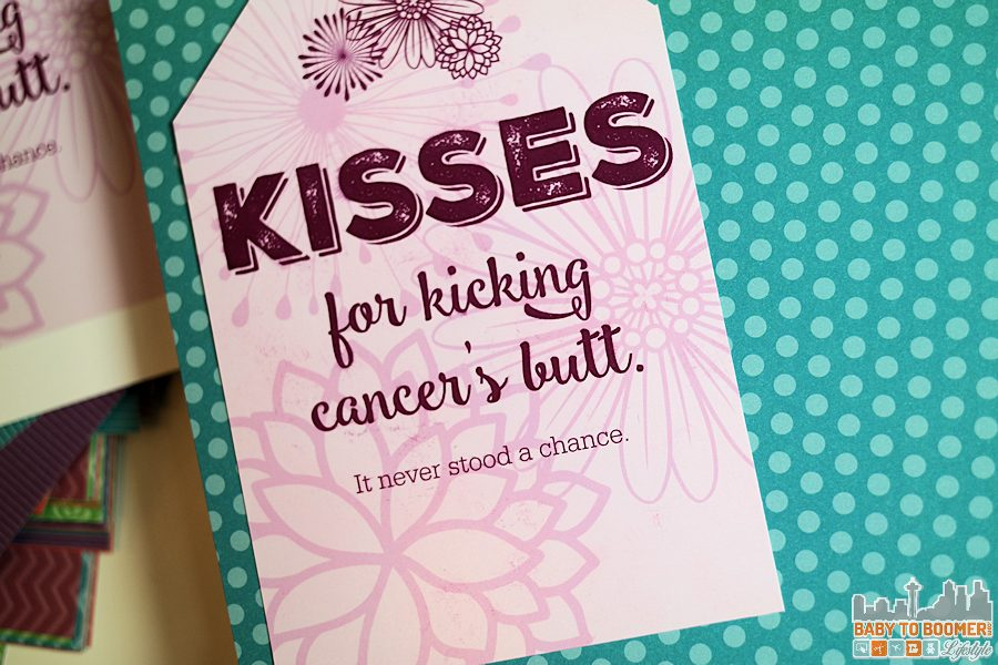 Printable Gift Tag - KISSES for Kicking Cancer's Butt: Free Printable & Giveaway #SayMore #IC ad