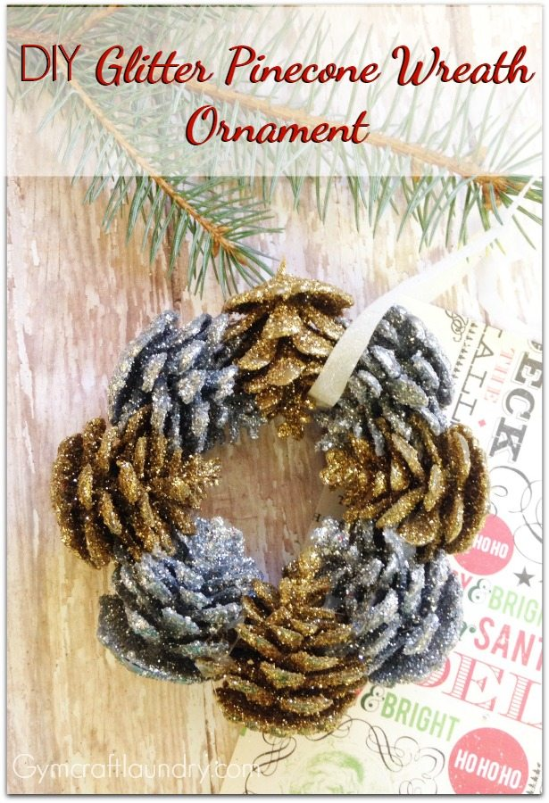 DIY Pinecone Wreath Ornaments