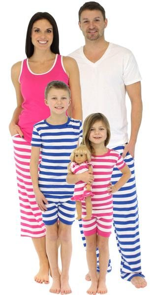Match Family Pajamas Spring Summer - SleepytimePjs Family Matching Stripes Cotton Pajama for the Family