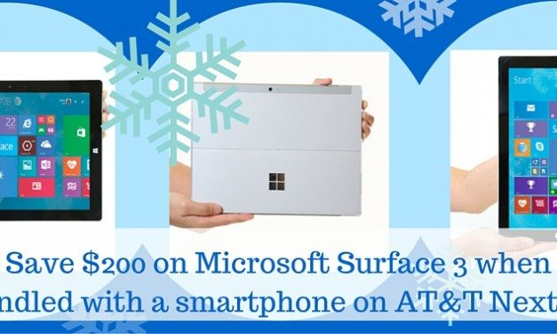 Update Your Tech! Save $200 on the Microsoft Surface 3 Tablet