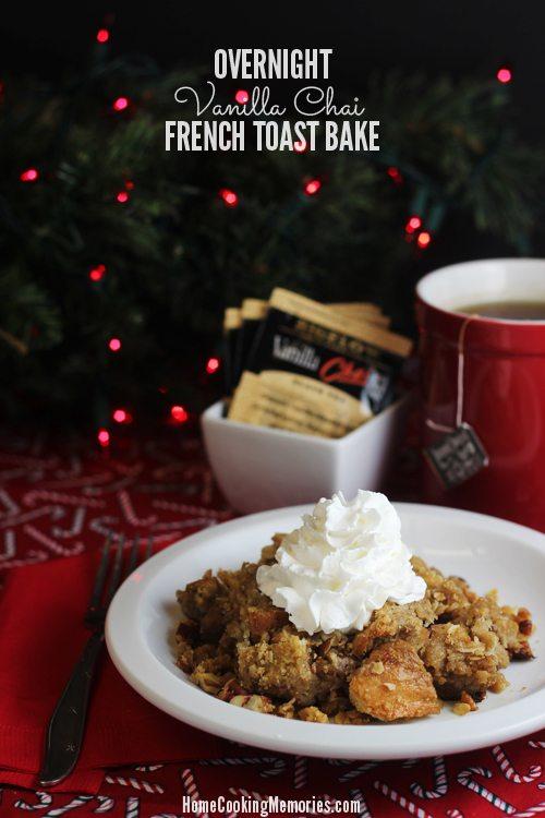 Overnight Vanilla Chai French Toast Bake